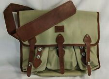 Leica Tan Canvas and Leather Camera Messenger Bag, Shoulder Strap, Never Used