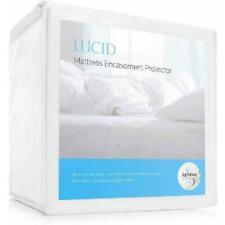 Lucid Waterproof Allergen & Bed Bug Proof Encasement Mattress Protector - Queen