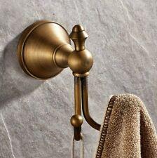 Antique Brass Wall Mount Coat Hooks Towel Robe Double Hook Bathroom Accessories