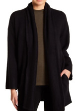 $475 NWT VINCE 100% SOFT CASHMERE OPEN FRONT CARDIGAN SWEATER BLACK