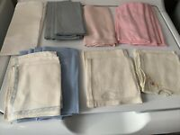 Vintage Mixed Lot of  21  Napkins -Linen Cotton-pastels off white & ASSORTED