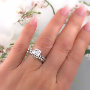 Tacori Crescent Diamond Engagement Ring Wedding Band Set Platinum