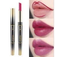 Double Head Lipstick Lip Liner Pencil Matte Waterproof Long Lasting Pigment