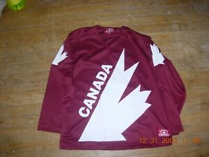 TEAM CANADA 1980s THROWBACK  Adult Small/Med.MAROON Jersey,PERSONALIZE,$27 MORE