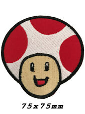 Mario mushroom psychedelic IRON ON GAME PATCH SEW ON BADGE A1189