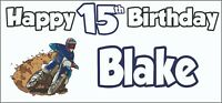 Rugby Silhouette 9th Birthday Banner x2 Party Decorations Boys Son ANY NAME