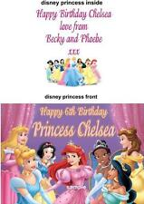 Personalised Birthday Card - with Disney Princess Ballroom Print  Any Name & Age