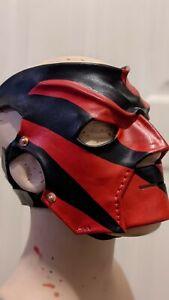 WWE Leather Kane Wrestling Mask Replica Wwf Custom *Made to Order*