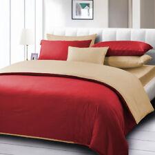 Egyptian Cotton 1000 TC 5 Piece Solid Reversible Duvet Cover Set All Size Colors