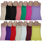 Ladies Womens Vest Top Strappy Camisole Sleeveless Tank Summer Sizes 8 - 20 New