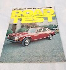 August 1975 Road Test Magazine Peugeot 504 Diesel Special Teardown Report mx5562