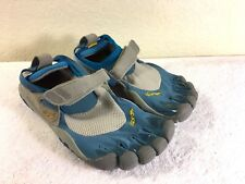 Vibram Five Fingers women's Blue & Grey Velcro Water Shoes Size 38 Nice!