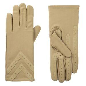 Isotoner Women's Spandex 3-Button Length Chevron Gloves - A30276