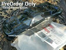 Custom Painted RC Body Shell Rustler VXL XL5 Traxxas Tamiya Black Clear Windows