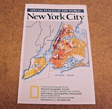National Geographic September 1990 Map New York City Special Places of The World