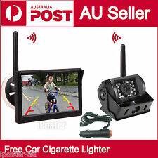 "Wireless 5"" Monitor Windows Suction + CCD Reversing Camera + Cigarette Lighter"