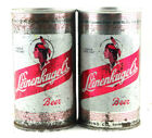 Qty. 2 Leinenkugel's Beer Can Steel Top Opened Free Shipping