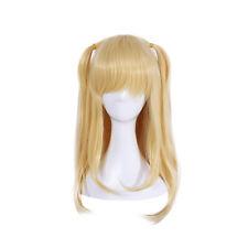 5e6ba622a17 Anime Game Cosplay Wig Misa Amane Elina Vance Blonde Long Straight Women  Wigs