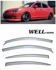 For 04-09 Mazda 3 Sedan WellVisors Premium Series Side Window Visors Deflectors