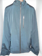 TECH by TUMI Mens Full Zip Front Light Weight Jacket Coat L Large Blue Polyester