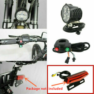 Electric Bicycle Rear Light Front Spotlight Horn Turn Switch For E-Bike 12-48V