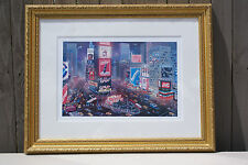 """2001 ALEXANDER CHEN """"An Evening in Times Square"""" Seriolithograph Signed/Numbered"""