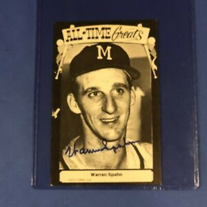Warren Spahn HAND SIGNED 1973 TCMA All-Time Greats Postcard
