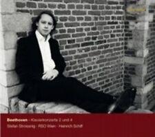 Beethoven: Piano Concertos Nos. 2 & 4 [Stefan Stroissnig, Heinrich Schiff] [Gram