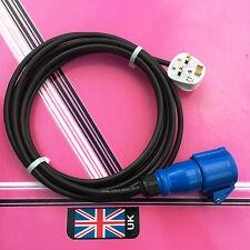 5 meter Fly Lead 13 Amp Plug to 16 Amp socket / generator / caravan / camping