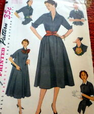 LOVELY VTG 1950s ACCESSORY DRESS Sewing Pattern 16/34 FF