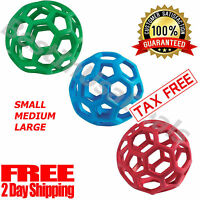 Pet JW Holee Roller BALL Toy Dog Chew Treat Fetch Large Medium Small Rubber Chew