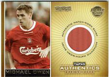 Topps Authentics Liverpool Michael Owen Premier Gold Match Worn Shirt #141/350