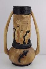 Bretby ART Pottery Oriental Doppio Manico Lizard VASO c1906 design by Tooth & Co