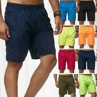 Mens Swimming Shorts Quick Dry Trunks Pants Striped Mesh Lined Swimwear S-3XL