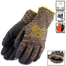 Safety Winter Lining Knit Latex Dip Work Gloves- Crinkle Finished-BGWLAC