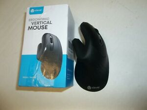 Ergonomic Mouse Wireless Vertical 6 Buttons Adjustable DPI iClever TM209G
