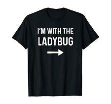 With The Ladybug Shirt Funny Halloween Costume T-shirts Tee size M-3Xl