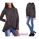 Cappotto donna corto bottoni caldo giacchetto giacca portafogli nuovo AS-0880