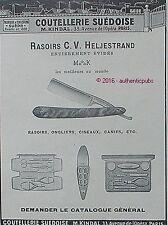 PUBLICITE COUTELLERIE SUEDOISE RASOIRS ONGLIERS CISEAUX CANIFS DE 1911 FRENCH AD