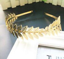 Golden Silver Laurel Leaf Branch Crown Leaves Headband Hair Band Accessories