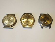 3 Swiss mechanical manual wind watches. CIMEGA, RAMADAN, LUCERNE. For repair.
