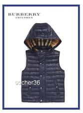BURBERRY KIDS' DAWES QUILTED DOWN VEST W/ REMOVEABLE HOOD NAVY 4 YEARS NWT $265