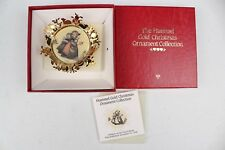 The Hummel Gold Christmas Ornament Collection 'Children on Church Road'
