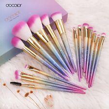 Docolor 16 Piece Ombre/ rainbow/ sparkle Makeup Brush Set Vegan Friendly brushes