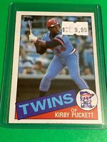 🔥 1985 TOPPS Baseball Card Set #536 🔥MINNESOTA TWINS KIRBY PUCKETT ROOKIE RC