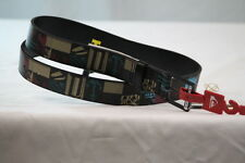 QUIKSILVER BLACK MULTI-COLOR GRAPHIC BUCKLE -BELT size Small/32