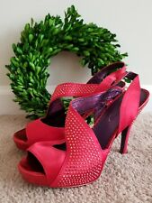 POETIC LICENCE Red Sparkle Dorothy Wizard of Oz High Heel Shoes Sz 6.5 👣ks2