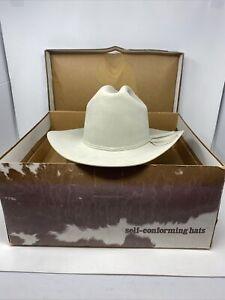 Resistol Self Conforming Cowboy Hat 5x Beaver 6 7/8 Made In Texas