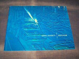 TOPRARITÄT Herrlicher Prestige Prospekt Opel Kadett Werk Bochum von 1965 !!!
