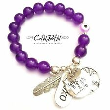 Silver Plated Amethyst Fashion Bracelets